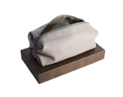 Beauty case piccolo in pelle artigianale