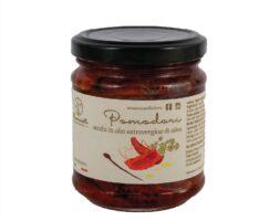 """Barattolo pomodori secchi molisani sott'olio """"Azienda Agricola Mammarella"""""""